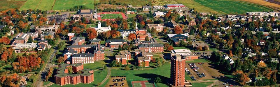 Acadia University campus, aerial view.