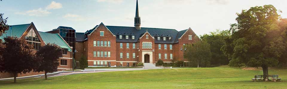Algoma University campus, front of building