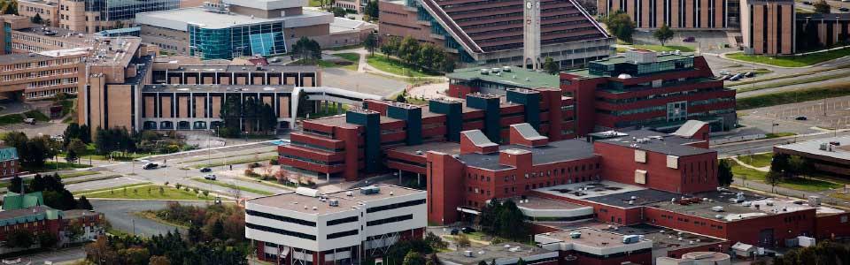 Memorial University campus: aerial view.