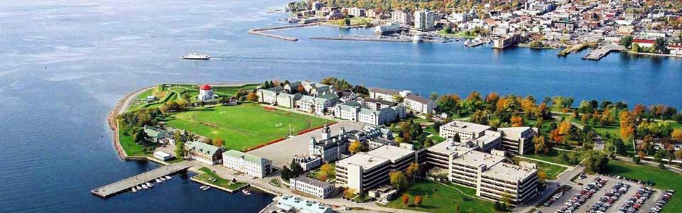 College militaire royal: vue aérienne du campus.