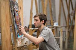 OCADU student in art class