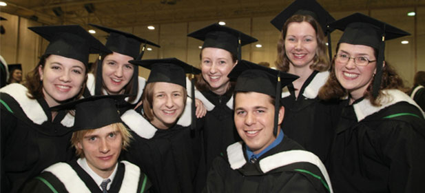 University of Manitoba graduates at the convocation ceremony.
