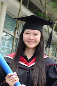 Female student in graduation gown. Photo: Shutterstock