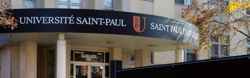 Saint Paul University campus: front entrance.