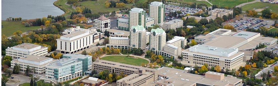 University of Regina campus: aerial view of the campus.