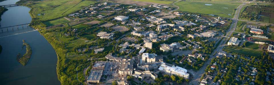 University of Saskatchewan campus: aerial view.