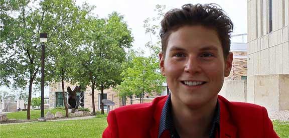 Brayden Harper, étudiant autochtone, University of Manitoba.