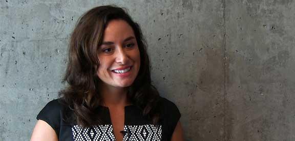 Kimberly Hanton, étudiante autochtone, University of Victoria.