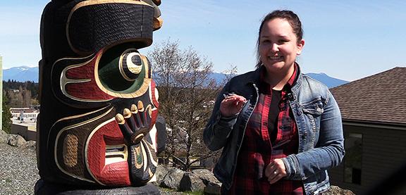 Sara Fulla, Indigenous student, Vancouver Island University.